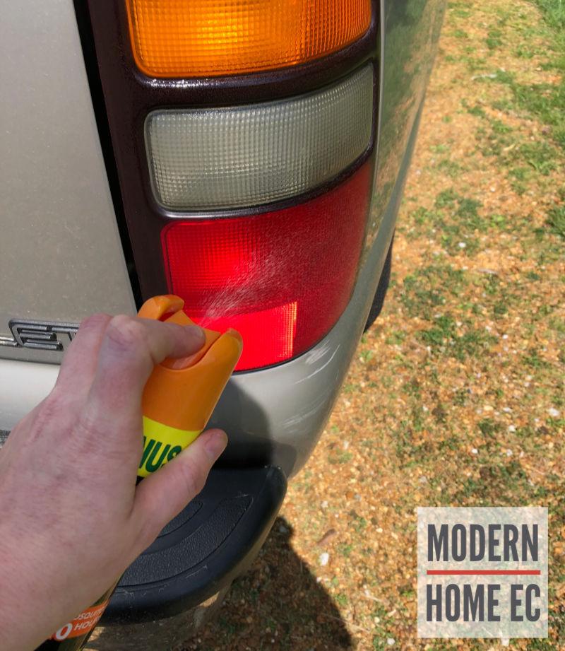 bug repellent headlight cleaner
