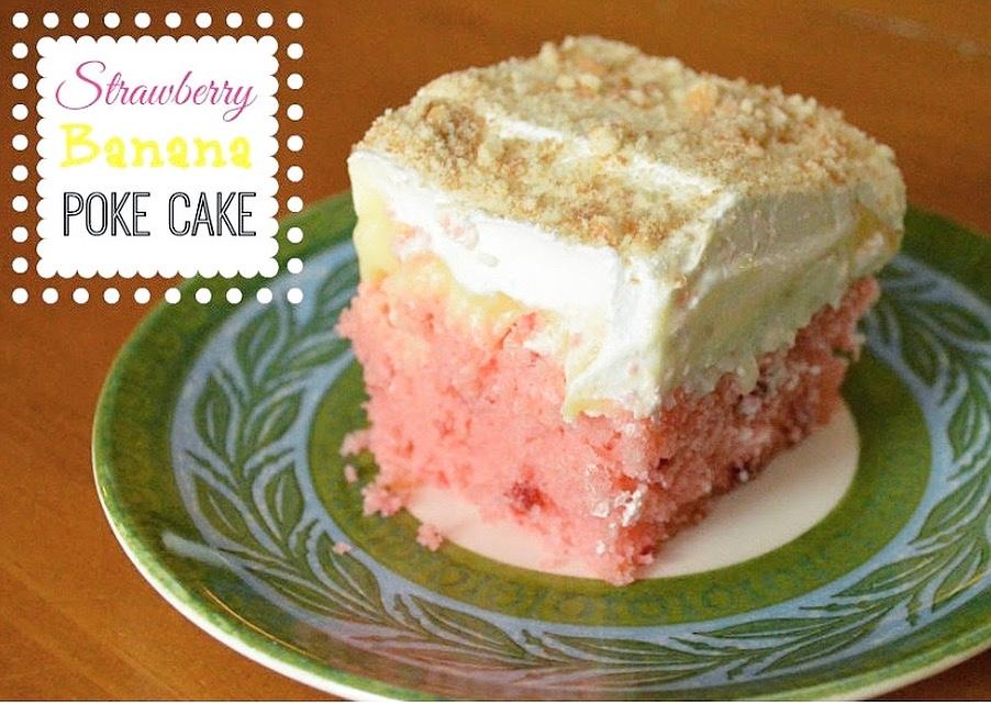strawberry-banana-poke-cake