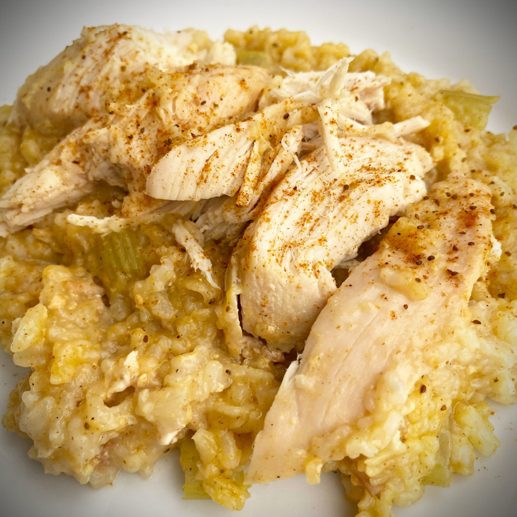crock pot chicken and rice for one